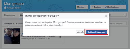 comment supprimer groupe facebook