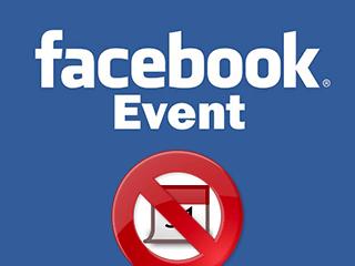 Supprimer un événement Facebook