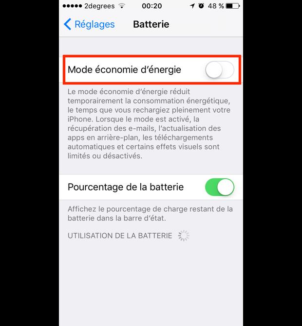 comment garder de la batterie