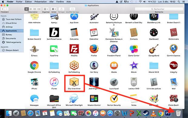 comment supprimer une application sur mac