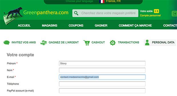 supprimer un compte green panthera