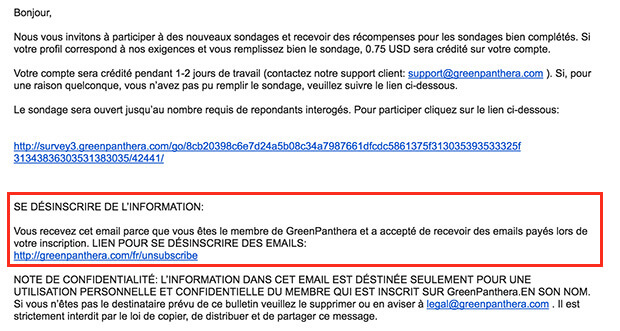 comment supprimer un compte green panthera