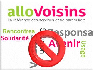 Supprimer un compte AlloVoisins