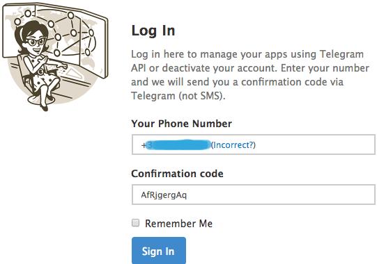 fermer profil telegram