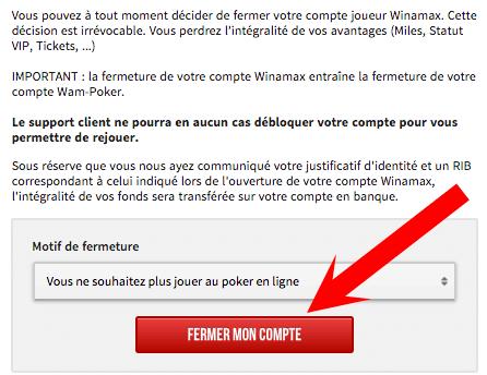 supprimer profil winamax