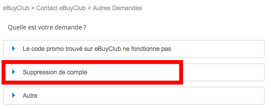 cloture compte ebuyclub