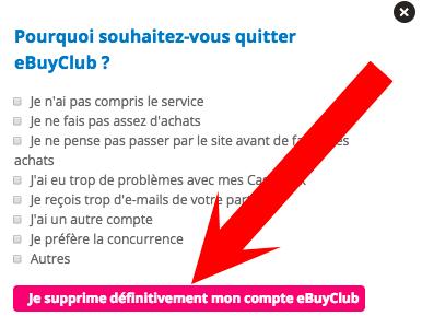 supprimer profil ebuyclub