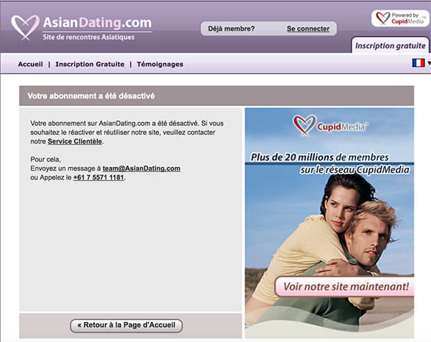 comment fermer un compte asian dating
