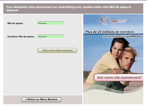 comment supprimer un compte asian dating