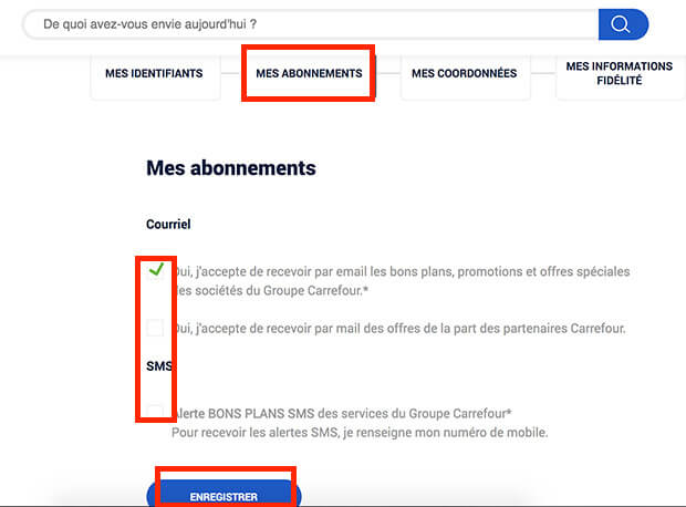 comment supprimer les newsletters carrefour