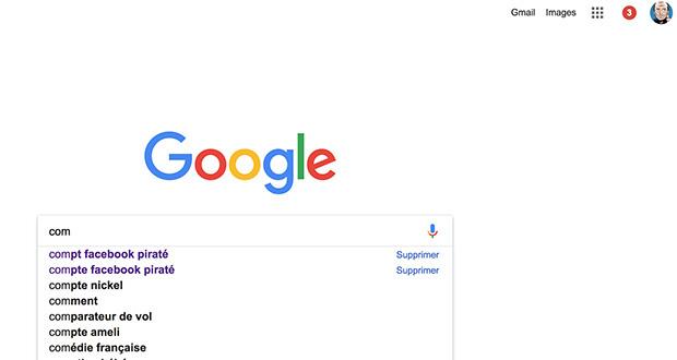 comment supprimer google historique