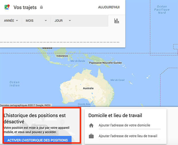 comment supprimer les donnees google map