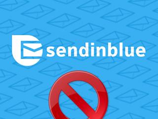 Supprimer un compte SendinBlue