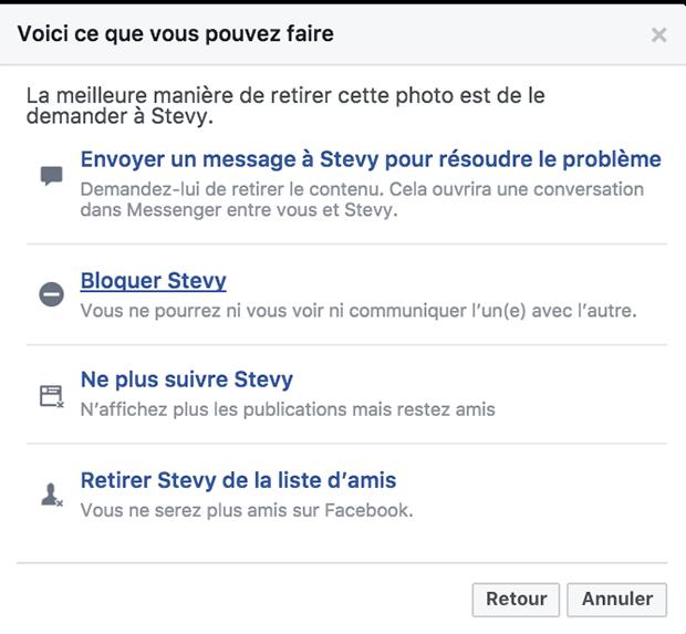 comment bloquer une personne sur facebook