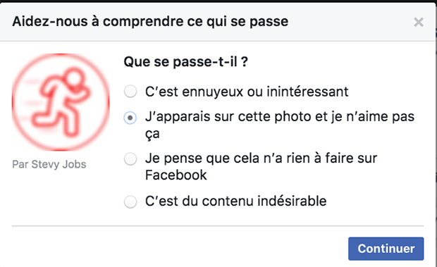 comment faire supprimer une photo sur facebook