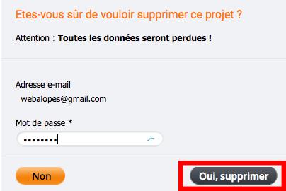fermer compte webnode