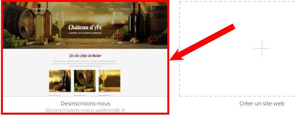 supprimer site webnode
