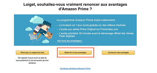 comment fermer un compte amazon prime