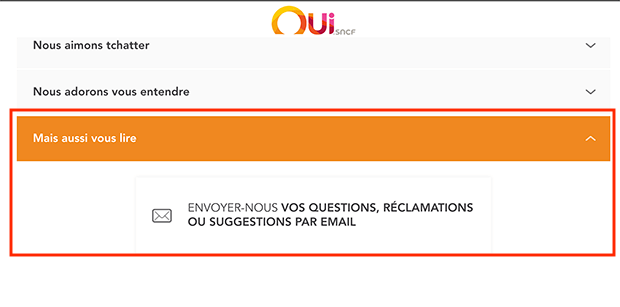 comment contacter oui sncf