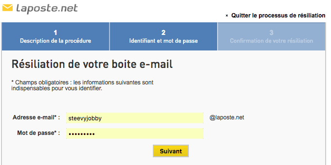 comment supprimer une adresse mail laposte net