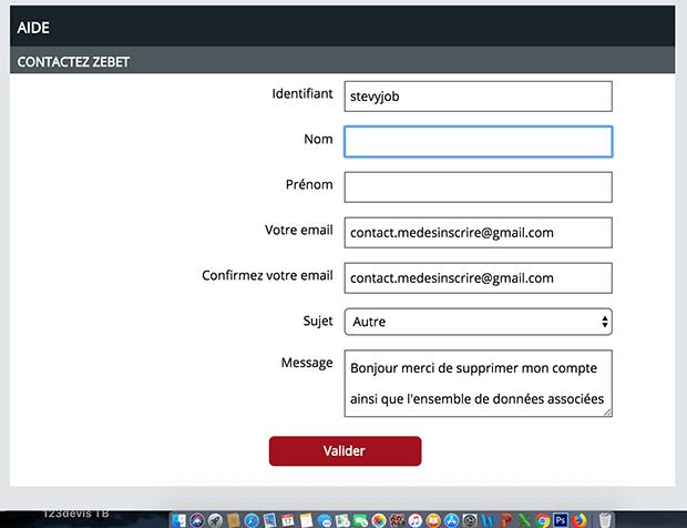 comment contacter zebet