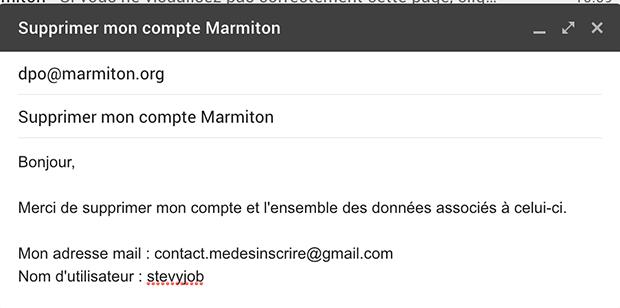 contacter le service client marmiton