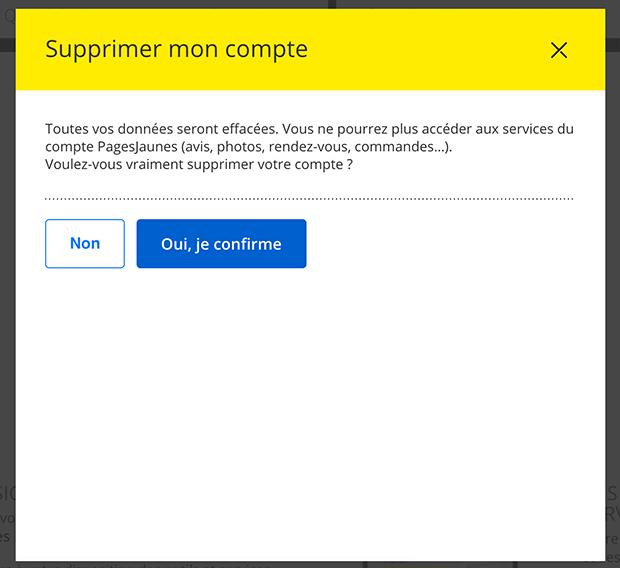 comment supprimer un compte pages jaunes