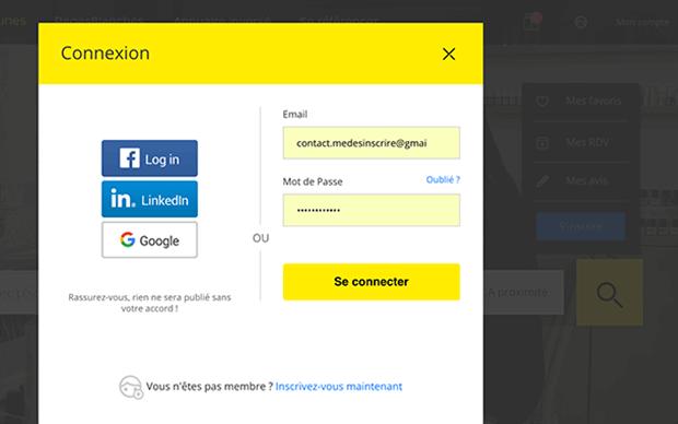 comment se connecter a page jaune