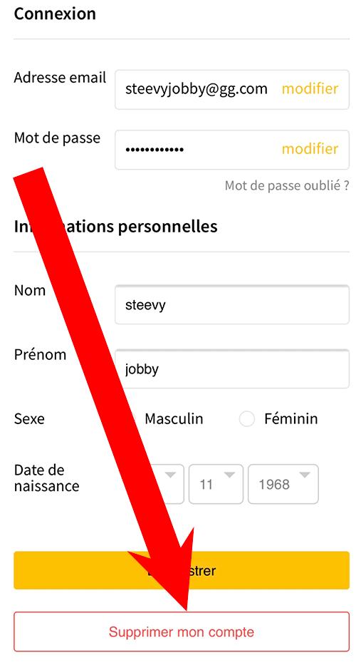 desinscrire profil molotov
