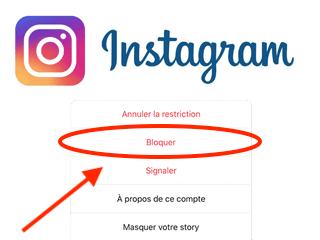 Bloquer / débloquer une personne sur Instagram